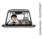 drunk people driving | Shutterstock .eps vector #1012955467