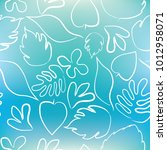 abstract floral textures hand... | Shutterstock .eps vector #1012958071