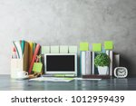 close up of creative... | Shutterstock . vector #1012959439