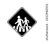 sign place to cross template... | Shutterstock .eps vector #1012960531