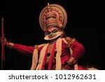 kathakali artist performance in ...   Shutterstock . vector #1012962631