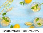 cold refreshing summer drink... | Shutterstock . vector #1012962997
