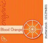 bright organic blood orange... | Shutterstock .eps vector #101296801