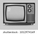 vector retro television mock up ...