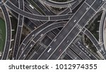 aerial view of highway and... | Shutterstock . vector #1012974355