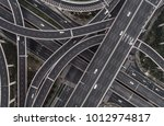 aerial view of highway and... | Shutterstock . vector #1012974817
