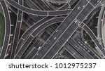 aerial view of highway and... | Shutterstock . vector #1012975237