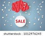 sale mobile hanging on sky ...   Shutterstock .eps vector #1012976245