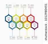 infographic template. vector... | Shutterstock .eps vector #1012980451