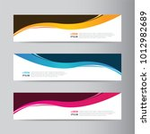 vector abstract banner design... | Shutterstock .eps vector #1012982689