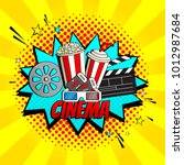 yellow cinema banner template.... | Shutterstock .eps vector #1012987684