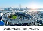 beautiful nanpu bridge ... | Shutterstock . vector #1012989847