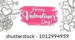 valentines day sale horizontal... | Shutterstock .eps vector #1012994959