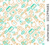 money seamless pattern with... | Shutterstock .eps vector #1012996681