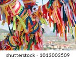 wish tree with colorful...   Shutterstock . vector #1013003509