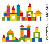 bright colorful wooden blocks... | Shutterstock . vector #1013005321