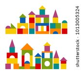 bright colorful wooden blocks... | Shutterstock . vector #1013005324