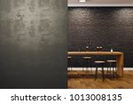 contemporary black brick pub or ... | Shutterstock . vector #1013008135