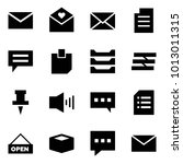 origami style icon set   mail... | Shutterstock .eps vector #1013011315