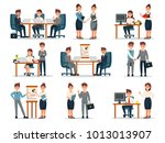business people characters at... | Shutterstock .eps vector #1013013907