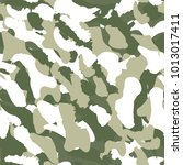 camouflage seamless pattern.... | Shutterstock .eps vector #1013017411