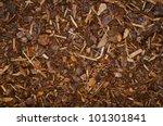 Mulch Bark On Ground Texture