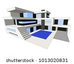 vector modern house  background ... | Shutterstock .eps vector #1013020831