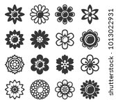 flower icons set on white... | Shutterstock .eps vector #1013022931