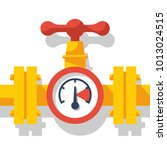 gas pipeline with a valve and a ...