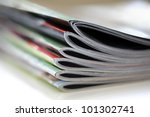 magazines with selective focus... | Shutterstock . vector #101302741