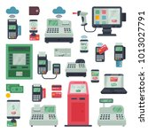 payment machine vector pos... | Shutterstock .eps vector #1013027791