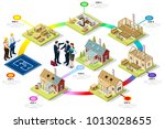 wood construction buildings and ...   Shutterstock .eps vector #1013028655