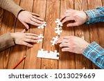finally finding solution   Shutterstock . vector #1013029669