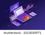 success elements of an internet ... | Shutterstock .eps vector #1013030971
