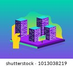 real estate building concept.... | Shutterstock .eps vector #1013038219