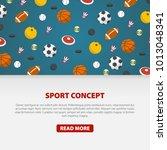 creative sport games concept.... | Shutterstock .eps vector #1013048341