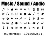 music  sound and audio icons | Shutterstock .eps vector #1013052631