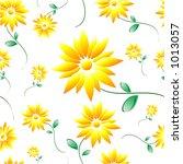 daisy tile | Shutterstock .eps vector #1013057