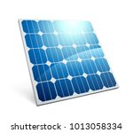 solar panel icon | Shutterstock .eps vector #1013058334