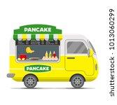 pancake street food caravan... | Shutterstock . vector #1013060299