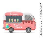 ice cream street food caravan... | Shutterstock . vector #1013060407