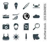 collection icons. set of 16...   Shutterstock .eps vector #1013060851