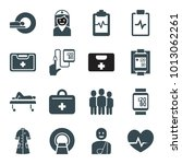 patient icons. set of 16... | Shutterstock .eps vector #1013062261