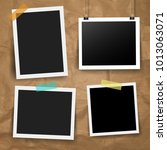 photo frame collection with... | Shutterstock .eps vector #1013063071