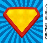 superhero logo template at...   Shutterstock .eps vector #1013063647