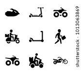 Scooter Icons. Set Of 9...