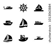 sail icons. set of 9 editable... | Shutterstock .eps vector #1013063884