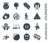 Ball Icons. Set Of 16 Editable...