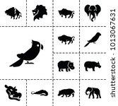 zoo icons. set of 13 editable... | Shutterstock .eps vector #1013067631