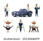 charming beard businessman... | Shutterstock .eps vector #1013068699